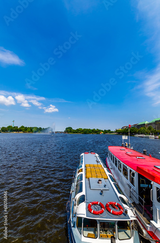 canvas print picture Hamburg Alster