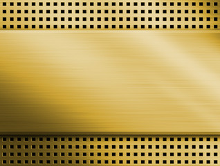 Gold metal background