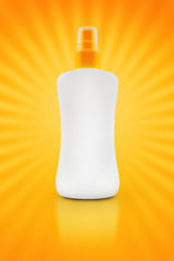 Sunbath oil or sunscreen bottle