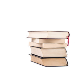 Books on white isolated background