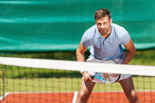 canvas print picture Confident tennis player.