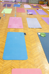 yoga mats in studio