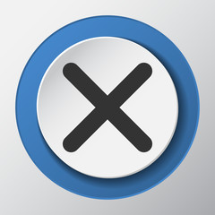 No check mark paper icon with shadow