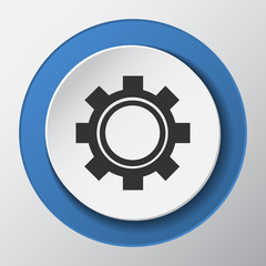 settings paper icon with shadow