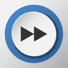 Media Player arrow paper icon with shadow