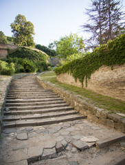 Stairs on an old fortress, Petrovaradin, Serbia.