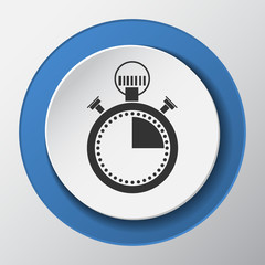 stopwatch paper icon with shadow