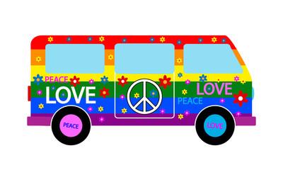 Hippie minibus
