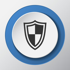 Security paper icon with shadow