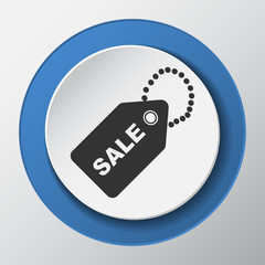 Price label Sale paper icon with shadow
