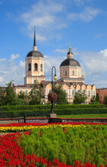 Epiphany Cathedral in Tomsk. Russia.