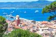 Leinwandbild Motiv Panoramic view of the bay of Saint-Tropez, France