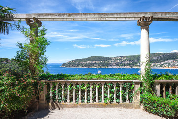 The view of the bay from the Villa Ephrussi de Rothschild