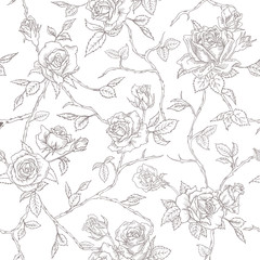 Seamless Floral Roses Background - texture, design, wallpaper