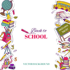 Back to School Background- for design, postcard, texture