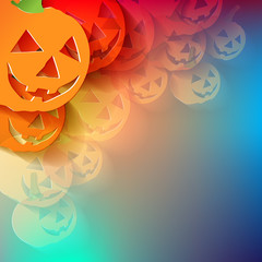 Halloween Bunt ECKE Transparent