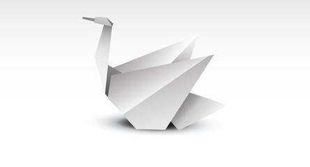 carta, cigno, origami