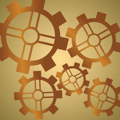 Gear Background Copper