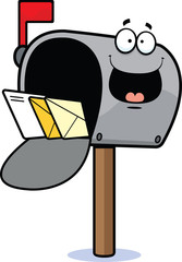 Cartoon Mailbox Happy