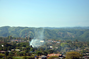 village landscape of Payathonsu in the south of Kayin State