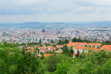 View of Clermont-Ferrand in Auvergne, France