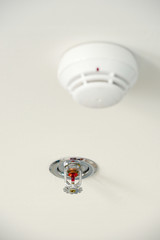 Sprinkler and smoke detector