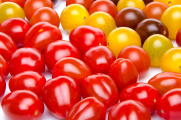 Different varieties of cherry tomatoes