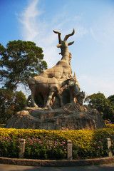 Five goats statue in Guangzhou city China