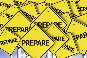 Prepare written on multiple road sign
