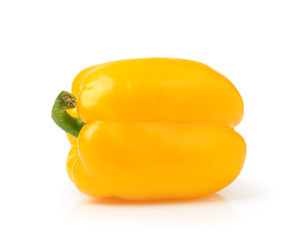 yellow pepper on white background