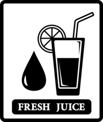 juice icon with drop and glass