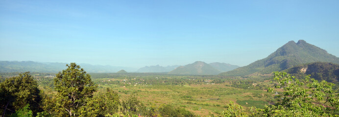 Panorama View point Landscape of Payathonsu in Kayin State