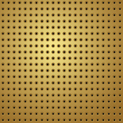 perforated gold