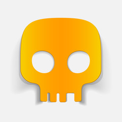realistic design element: skull