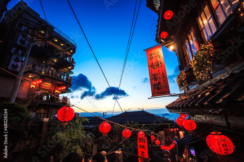 Foto op Canvas Beijing seaside mountain town scenery in Jiufen, Taiwan