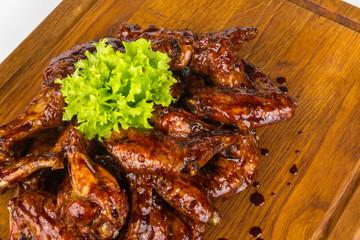 chicken wings in hot sauce