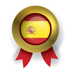 Spain Seal, Spanish Flag (vector Art)