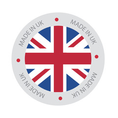 Made in UK, United Kingdom Flag (vector Art)
