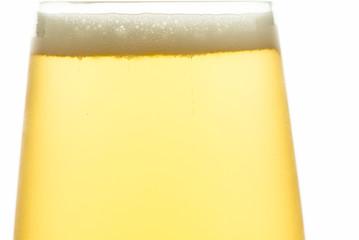 Nahaufnahme Bier mit Schaum