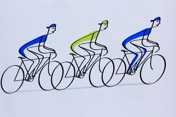 3 cyclistes