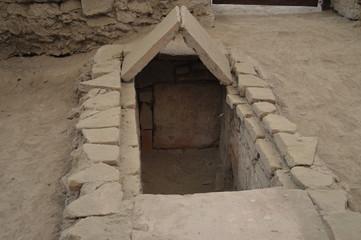 Roman tomb in the archeological site Viminacium, Serbia