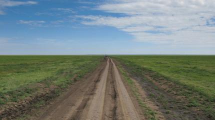 Strada sterrata in africa