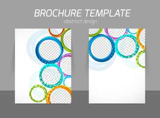Colorful circles brochure