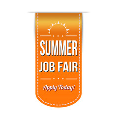 Summer job fair banner
