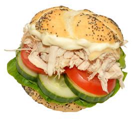 Chicken And Salad Sandwich Roll