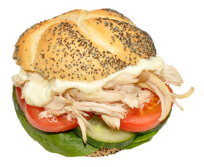 Chicken And Salad Sandwich Roll