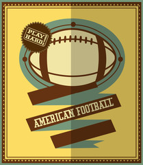 Flat design. American football retro poster