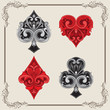 Playing Card Vintage Ornamental - 68035467