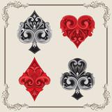 Playing Card Vintage Ornamental - 68035467