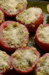 Pomodori gratinati Tomato au gratin Tomates gratinados